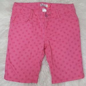 Pink polka dot bermuda shorts | size 12